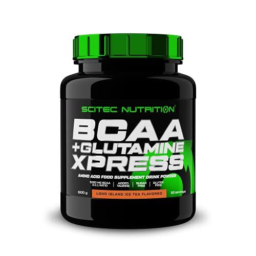 Scitec Nutrition BCAA + Glutamine Xpress, enriquecida con taurina, sin azúcar, 600 g, Long island