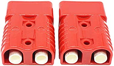 X-Haibei Red 175 Amp Battery Quick Connector Kit 1/0 Awg Plug Connect Disconnect Winch Forklift Trailer