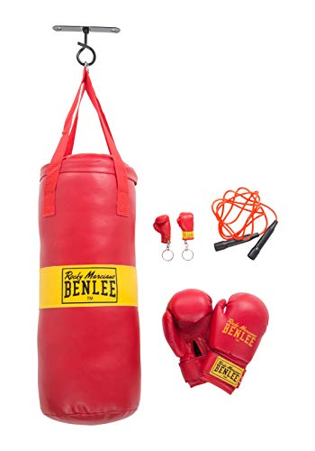 BENLEE Rocky Marciano Kinder Boxsack Set Kids Boxing Bag Punchy, Rot, One size