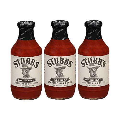 Stubbs Original BBQ Sauce, Gluten Free, No High Fructose Corn Syrup, 18 Ounce, Pack of 3