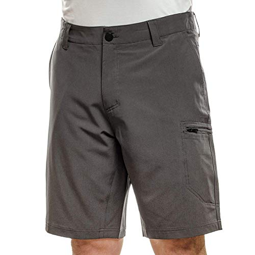 ZEROXPOSUR Men's Lightweight Stretch Travel Friendly Shorts Color: Slate Size: (34)-(36)-(38)-(40) New with Tags (38)