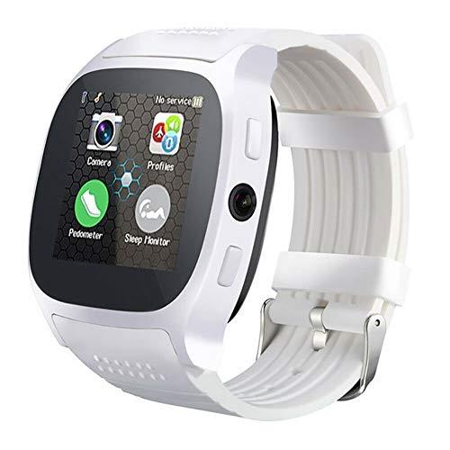 ZITOOP T8 Smart Watch-Handy mit Remote-Kamera, Unterstützung von SIM-Karte & TF-Karte, Bluetooth, intelligente Positionierung, Schlafüberwachung (Weiß)