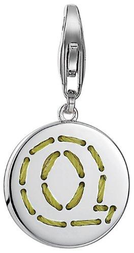 ESPRIT Damen-Charm 925 Sterling Silber rhodiniert Letter Fabric Q ESCH91139A000