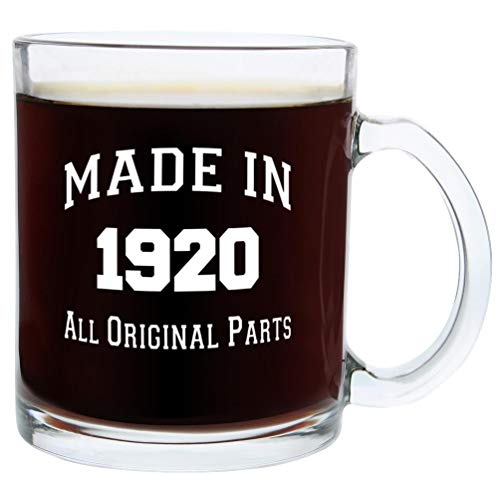 100th Birthday Gifts Made 1918 100th Birthday Party Supplies Gift Glass Coffee Mug Tea Cup White