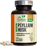 Psyllium Husk Capsules 1450mg - Premium Psyllium Fiber Supplement - Made in USA - Natural ...