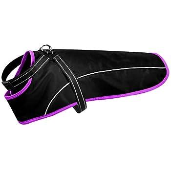 Manteau de pluie avec harnais pour chien (XXS, violet) I Manteau pour chien imperméable et réfléchissant I Veste de pluie I Manteau de pluie pour chiens de petite, moyenne et grande taille Imperméable