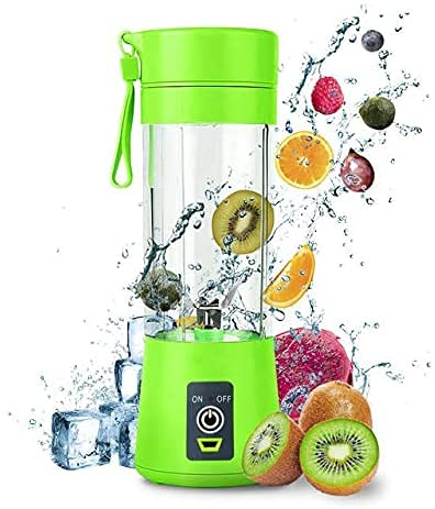 Personal Blender, Portable Blender, Smoothie blender for Smoothies and Shakes Handheld Electric Protein Shake Mixer, 6 Blades 380mL USB Rechargeable Mini Juicer Cup for Home/Office/Gym/Outdoors