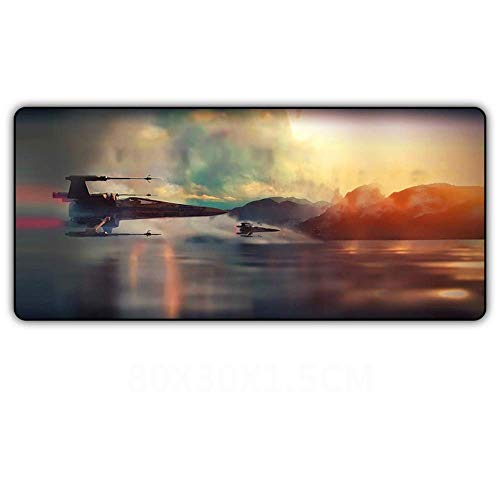 No/Brand Extended Gaming Mouse Pad 800mm300mm Star Wars Mouse Pad XL Mouse Pad Natural Anti-Slip Gaming Mouse Pad Locking PC Desktop|Mouse Pad|