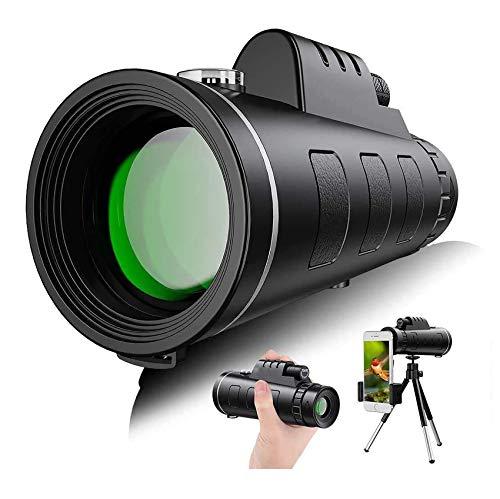 Bierglaks Starscope Monokular Fernglas 40×60,Nachtsicht Teleskop 4K High Power HD FMC BAK4Mit Smartphone Halter & Stativ Wasserdichtes Für Vogelbeobachtung Camping Wandern Match