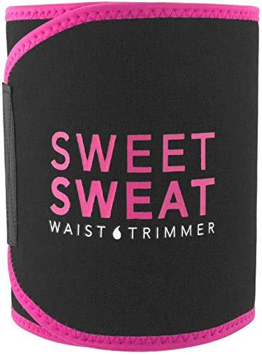 Recortador de Cintura Sweet Sweat (Logo Rosa) para Hombres y Mujeres. Incluye Muestra Gratuita de potenciador de Entrenamiento Sweet Sweat!