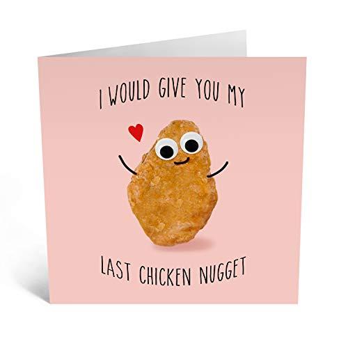 Central 23 – Grappige trouwdagkaart - Last Chicken Nugget - voor man of vrouw - Wordt geleverd met leuke stickers