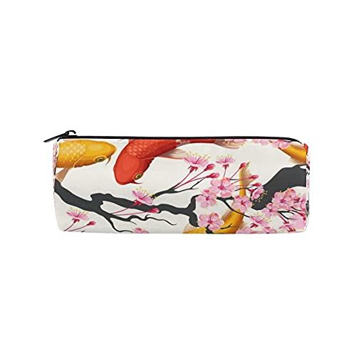 Estuche para lápices de flores de peces japoneses, bolsa de lápices con cremallera, bolsa de maquillaje para mujeres, niños, niñas, adolescentes, niños, enfermeras escolares