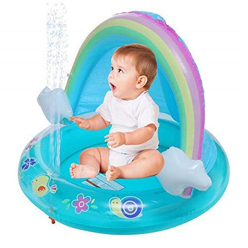 ZH Piscina Inflable para Bebés Redondo Bañera De Fuente De PVC para El Hogar para Niños Juegos De Agua Al Aire Libre
