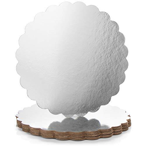 com-four® 8x beschichtete Torten-Unterlage - Kuchenplatten als Unterlage zum Dekorieren und Servieren - Tortenteller aus Pappe - Ø 30 cm (08 Stück - klein/Ø 30.5 cm)