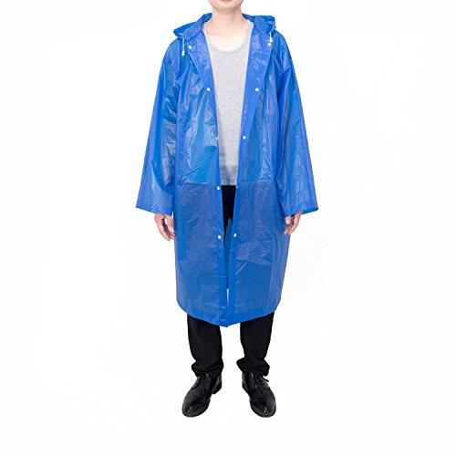 Vancool Fashion Durable Eva Blue Regen Mantel Regenponcho Unisex Männer Frauen mit Kapuzen und Ärmeln, wiederverwendbar, tragbar, faltbar.
