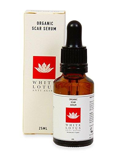White Lotus ANTI AGING ORGANISCHES NARBEN-SERUM 25ml | effektives Mittel gegen Akne-Rötungen + Entzündungen | Speziell für Gebrauch mit Derma-Roller oder Derma-Stempel entwickelt