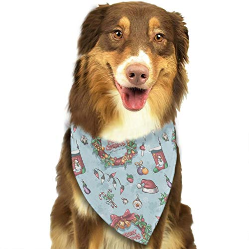CY-YONG Christmas Wreath Garlands Dog Bandana Kerchief Scarfs Triangle Scarfs Bibs Accessories for Small to Large Dogs Cats Pets