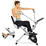 ANCHEER As Seen On TV 3-in-1 Stationary Bike - Folding Indoor Exercise Bike with APP and Heart...