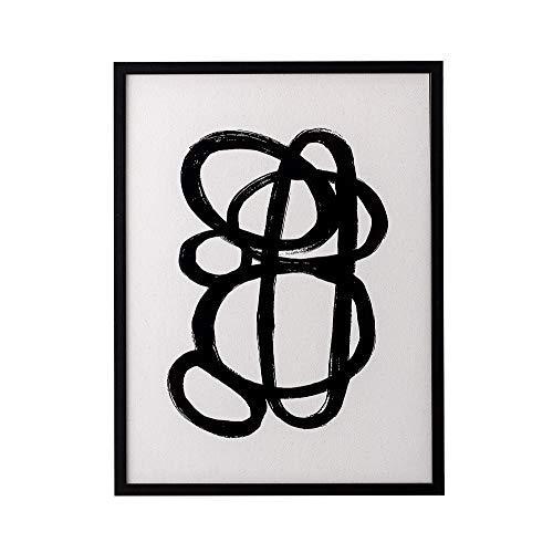 Bloomingville Bild mit Rahmen, Schwarz