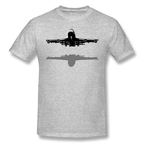 Poscaxz Men's Boeing-747 Comfortable Tennis Short Sleeves Cotton Tshirts