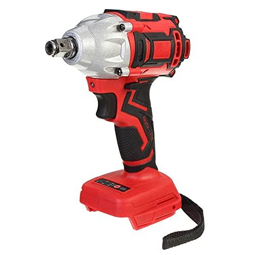 SZTUCCE 18V 588 N. M Llave de Impacto sin escobillas eléctricas para la batería de M-a-k-i-t-a Recargable 1/2 Llave de zócalo Driller Herramienta de alimentación inalámbrica (Color : Red)