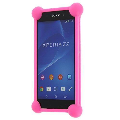 Unbekannt PH26 Schutzhülle für Alcatel One Touch Go Play, stoßfest, Silikon, Rosa