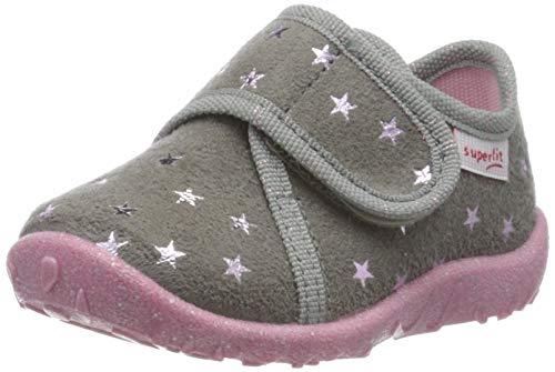 Superfit Baby - Mädchen, Hausschuh, GRAU 2100, 19 EU