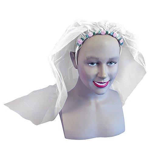 Bristol Novelty Novelty-DS039 DS039 Déguisement Voile de Mariée, Femme, Blanc, taille unique