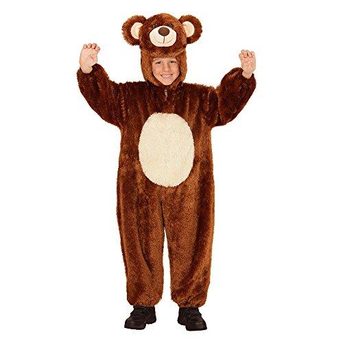 WIDMANN 98097?Disfraz para niños Oso de Peluche, Mono con Capucha y máscara