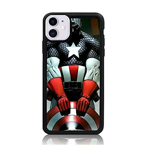Carcasa de teléfono Personalizada Compatible con Captain Samsung America iPhone Xiaomi Redmi Note 10 Pro Note 9 8 9A Poco M3 Pro Poco X3 Pro Funda Cajas del teléfono Negro TPU Delgado Protector