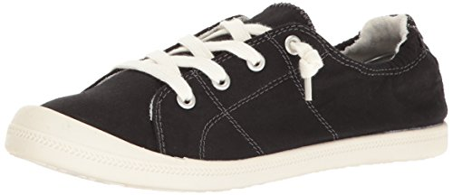 Madden Girl Women's Baailey Fashion Sneaker, Black Fabric, 8.5 M US