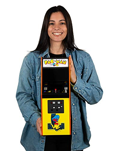 quarter arcades Offizielles Ms. PAC-Man 1/4 Größe Mini Arcade Kabinett Numskull - spielbare Replica Retro Arcade Spiel Maschine - Mikro Retro Konsole