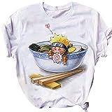 KIACIYA Maglietta Naruto per Uomo Donna, 3D Uchiha Sasuke Itachi Akatsuki Naruto Anime Cosplay T Shirt Casuale Harajuku Manica Corta Tee Maglia Shirt Camicia Camicetta Tops per Adulto Bambini (6,S)