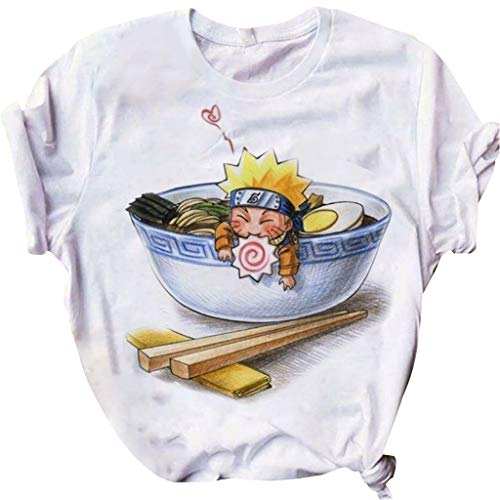 LOOVEE Naruto T Shirt, 3D Uchiha Sasuke Itachi Akatsuki Anime Cosplay T-Shirt Casual Japanese Anime Naruto Short Sleeve T Shirts Cartoon Manga Costume Tee Tops Clothes for Men Women (6,XL)