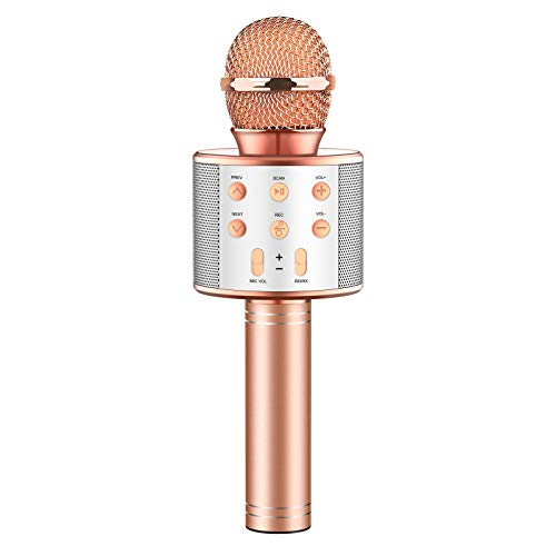 LET'S GO! Gifts for 4-12 Year Old Girls Boys Kids, Microphone for Kids Wireless Portable Karaoke Machine Fun Toy for Kids Age 5-16 Cool Toy Birthday Gifts for 3-14 Year Old Girls Boys