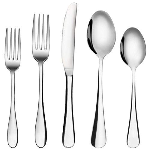 Silverware Set, MCIRCO 20-Pieces Flatware Set Stainless Steel Cutlery Set Service for 4,Include Knife/Fork/Spoon,Mirror Polished