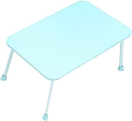 C-J-Xin ドミトリー?テーブル、折りたたみ式の持ち運びに便利なラップトップ?テーブル?リビングルーム?ベッドルーム?児童ルーム?デスク?小型書斎デスク?バルコニー 世帯テーブル (色 : 青, サイズ さいず : 60*38*30cm)