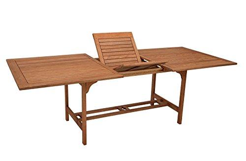 gartenmoebel-einkauf XXL - Ausziehtisch 180/230x100cm aus Eukalyptusholz, FSC®-Zertifiziert