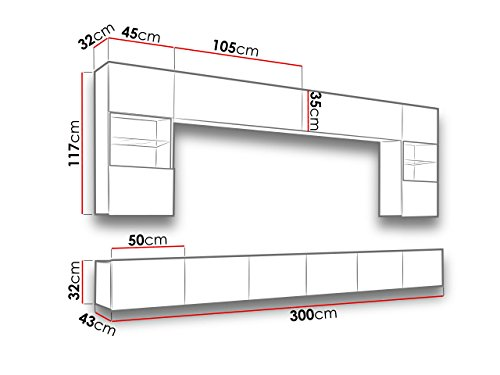 Wohnwand – Moderne  Calabrini I Anbauwand Mediawand Bild 3*