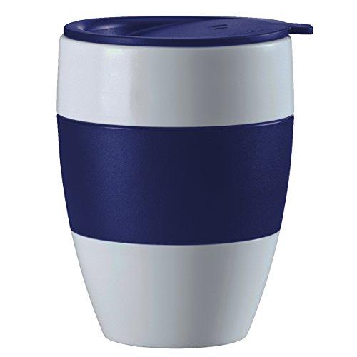 Koziol Milchkaffee-Tasse Thermobecher Aroma to Go 400ml in blau, Edelstahl, 25x25x15 cm