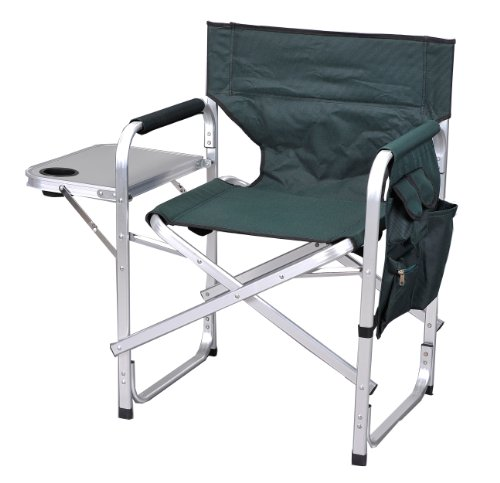 Ming's Mark SL1204-GREEN Stylish Camping Folding Director's Chair - Green