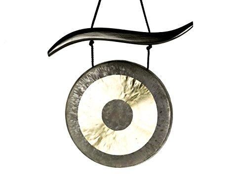 TamTam Gong/Whood Chau Gong Set 30 cm, inklusiv Gongaufhänger aus Holz sowie einem Holz-/ Baumwollklöppel -7070-