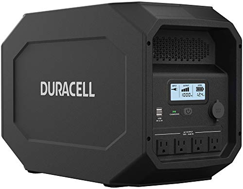 Duracell PowerSource Quiet Gasless Portable Power and Solar Generator, 1800w Peak Output Inverter
