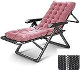 D + Silla de gravedad cero silla de patio silla de salón sillón reclinable reclinable al aire libre plegable ajustable, ideal reclinable al aire libre, silla de playa, tumbona acolchada de gran tamañ