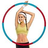 VAZILLIO Hula Hoop - Pneumatici da fitness rimovibili, utilizzati per ridurre il peso e massaggio, per fitness, sport, casa, ufficio, addominali, 6 segmenti