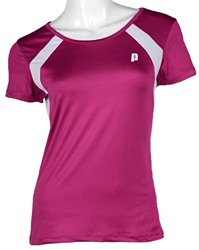 Prince Jr Crew Neck tee G Camiseta de Tenis, Unisex niños, Púrpura/Blanco, 12 USA