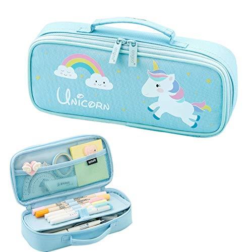 Jubao - Estuche escolar para niña, diseño de unicornio