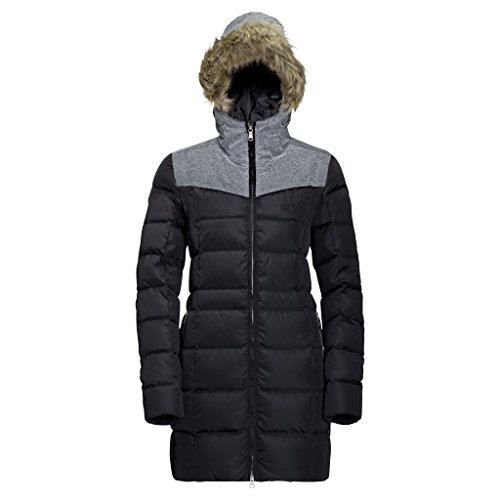 Jack Wolfskin Damen Baffin Island Coat, Damen, schwarz, XX-Large