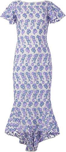 Shoshanna Women's Gown, Periwinkle Blue/Lavender/White, 8