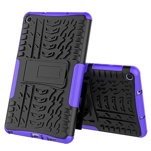 ZHIWEI Tablet PC Bag Coperchio Tablet per Samsung Galaxy Tab A 8.0 2019   P200 Texture di Pneumatici TPU Antiurto TPU + PC Cassa Protettiva con Supporto per Manico Pieghevole (Color : Purple)